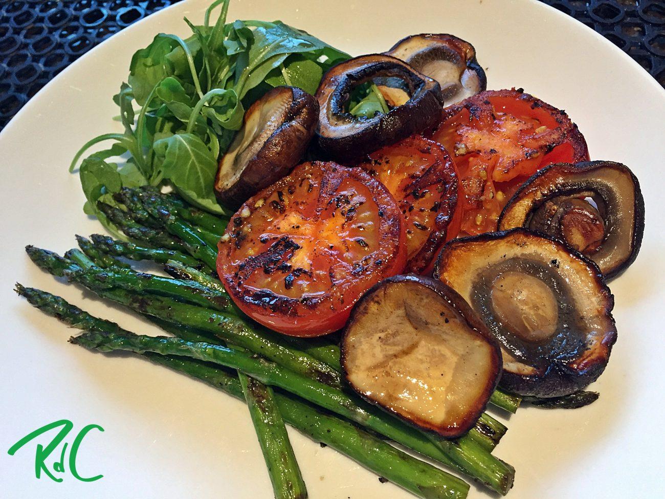 Asparagus, Mushroom & Tomato Pan Brekky