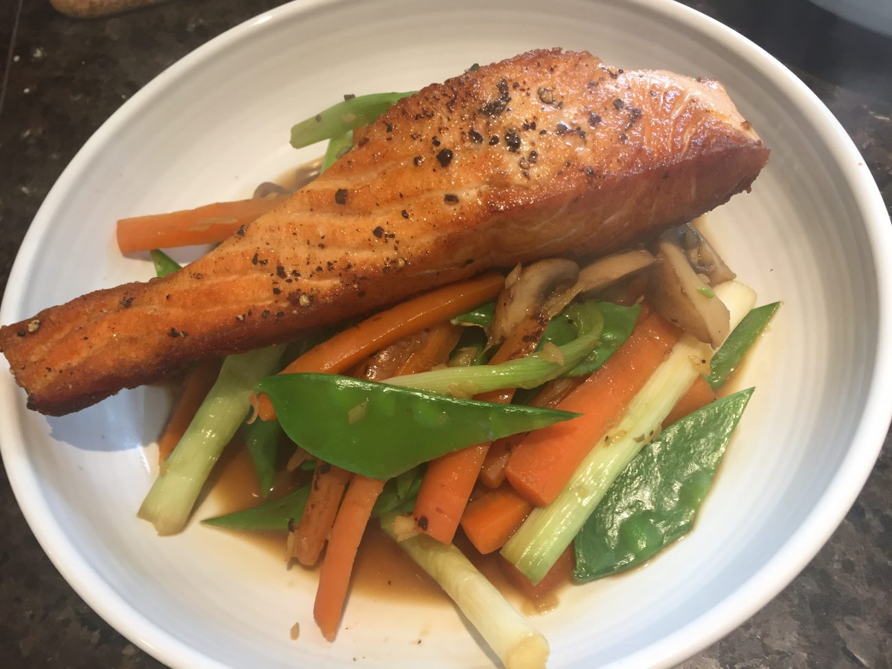 Salmon and Gingered Veggies