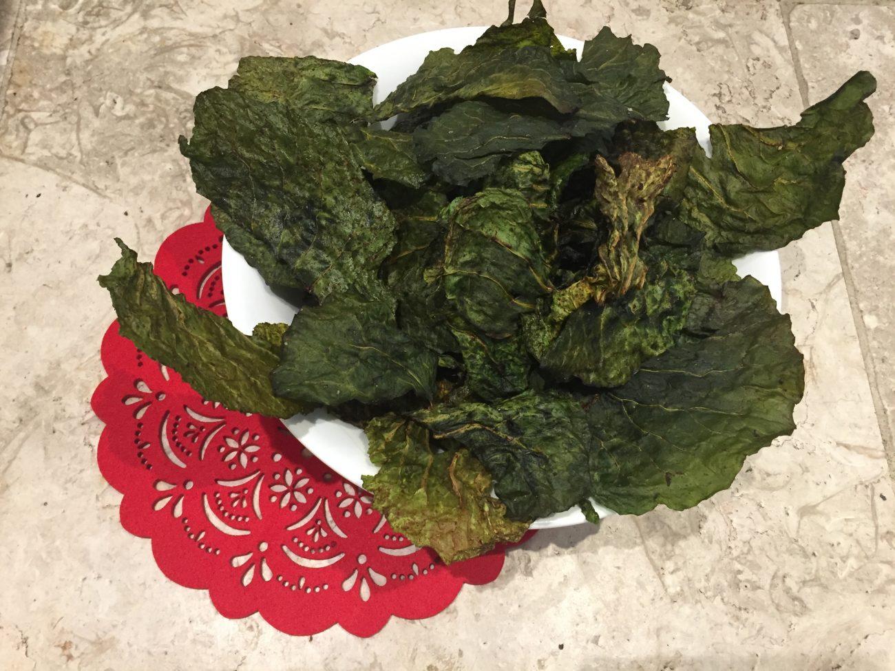 Spring Cabbage Crisps
