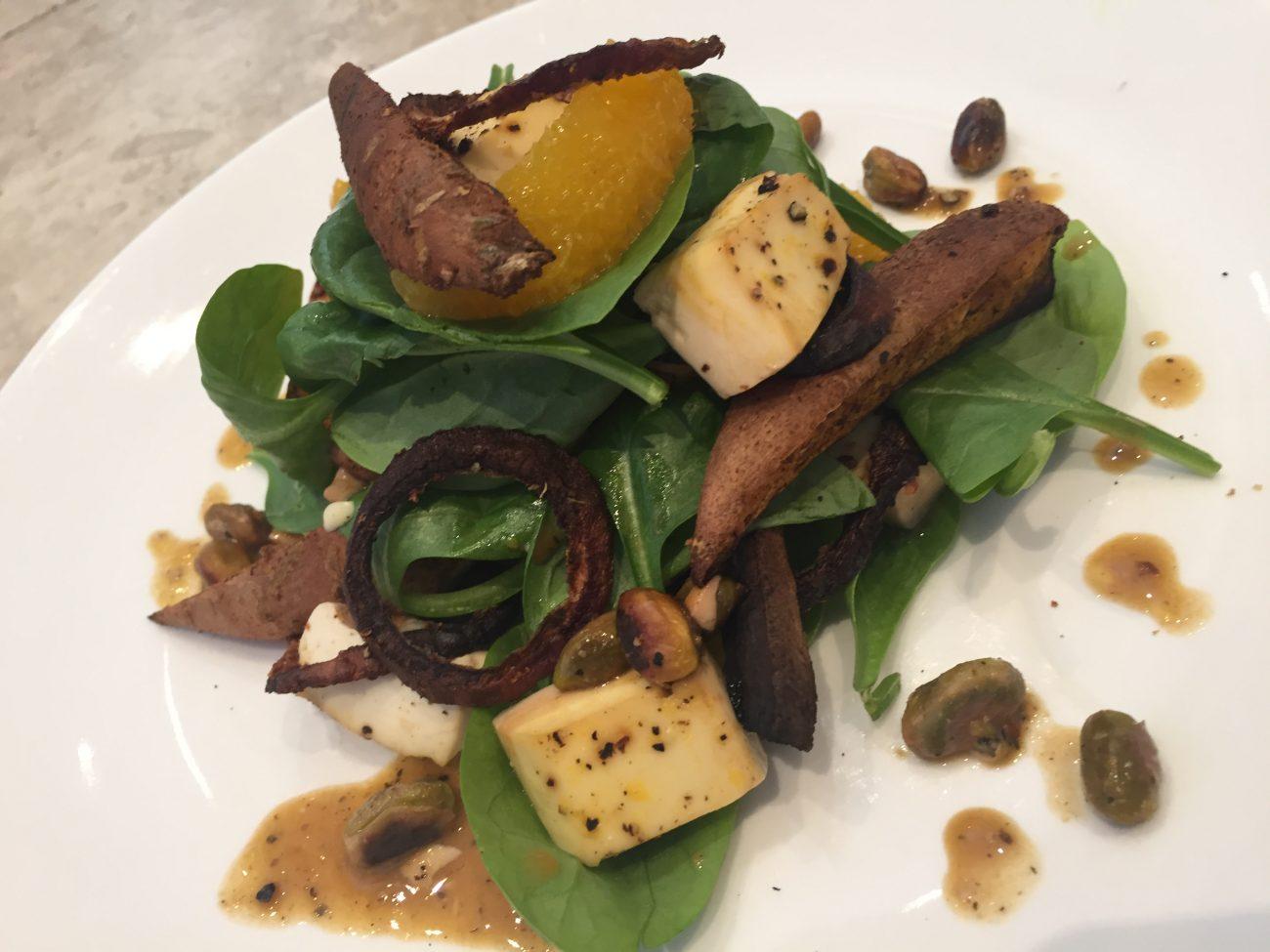 Pistachio, Orange and Tofu Salad
