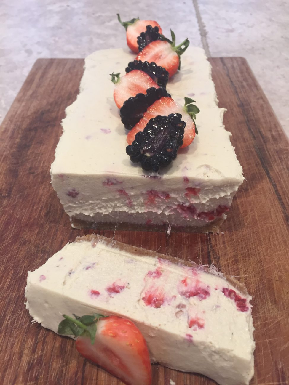 Raw Mango & Raspberry Cheesecake