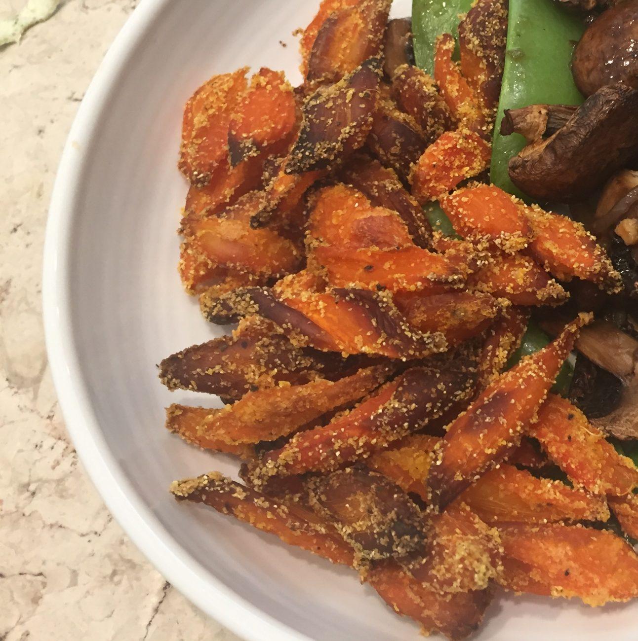 Crispy Gingered Carrots