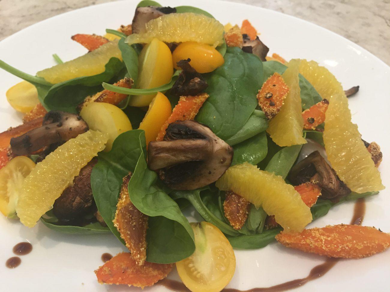 Crispy Ginger Carrot & Orange Salad