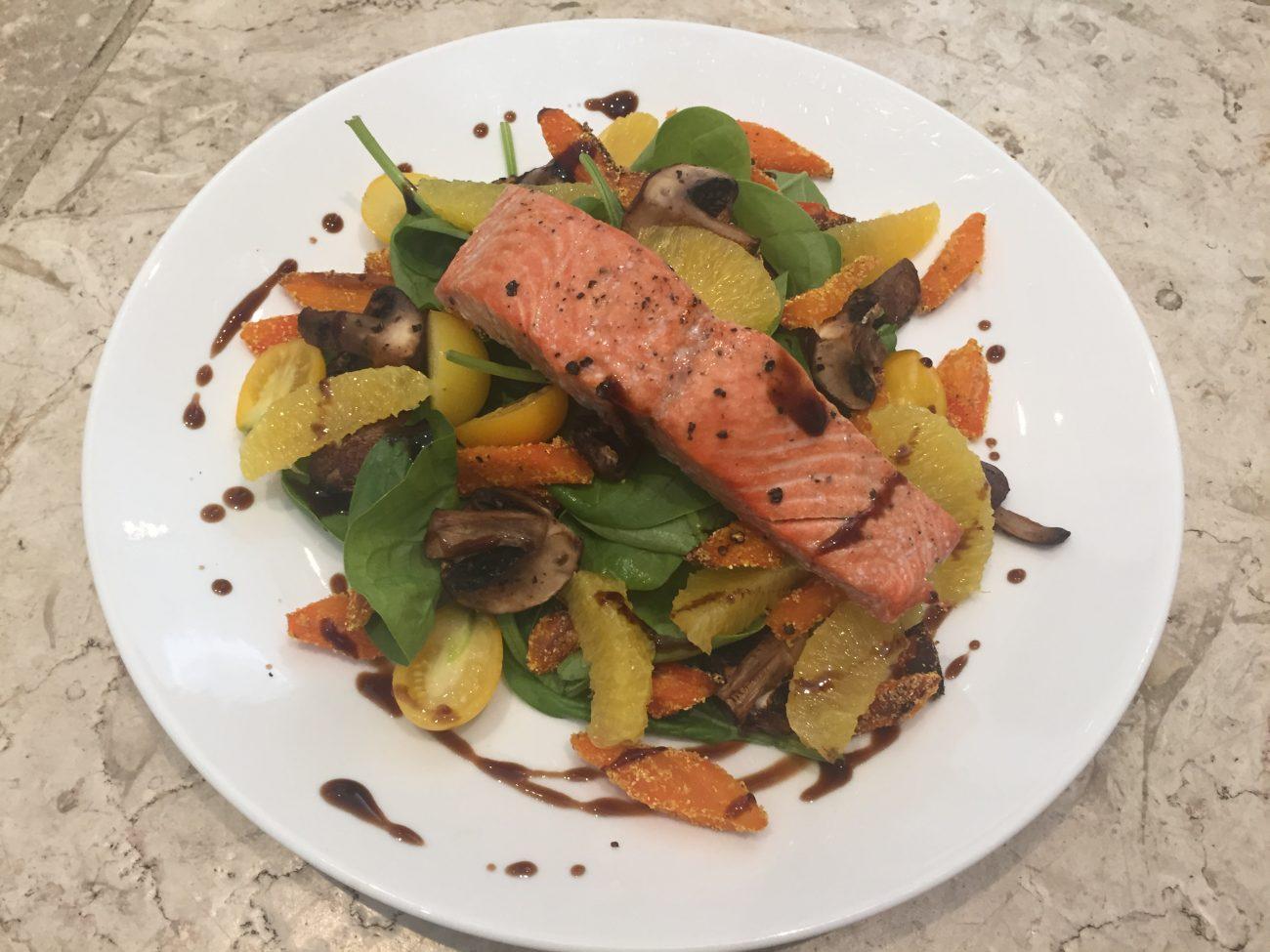 Salmon, Carrot and Orange Salad