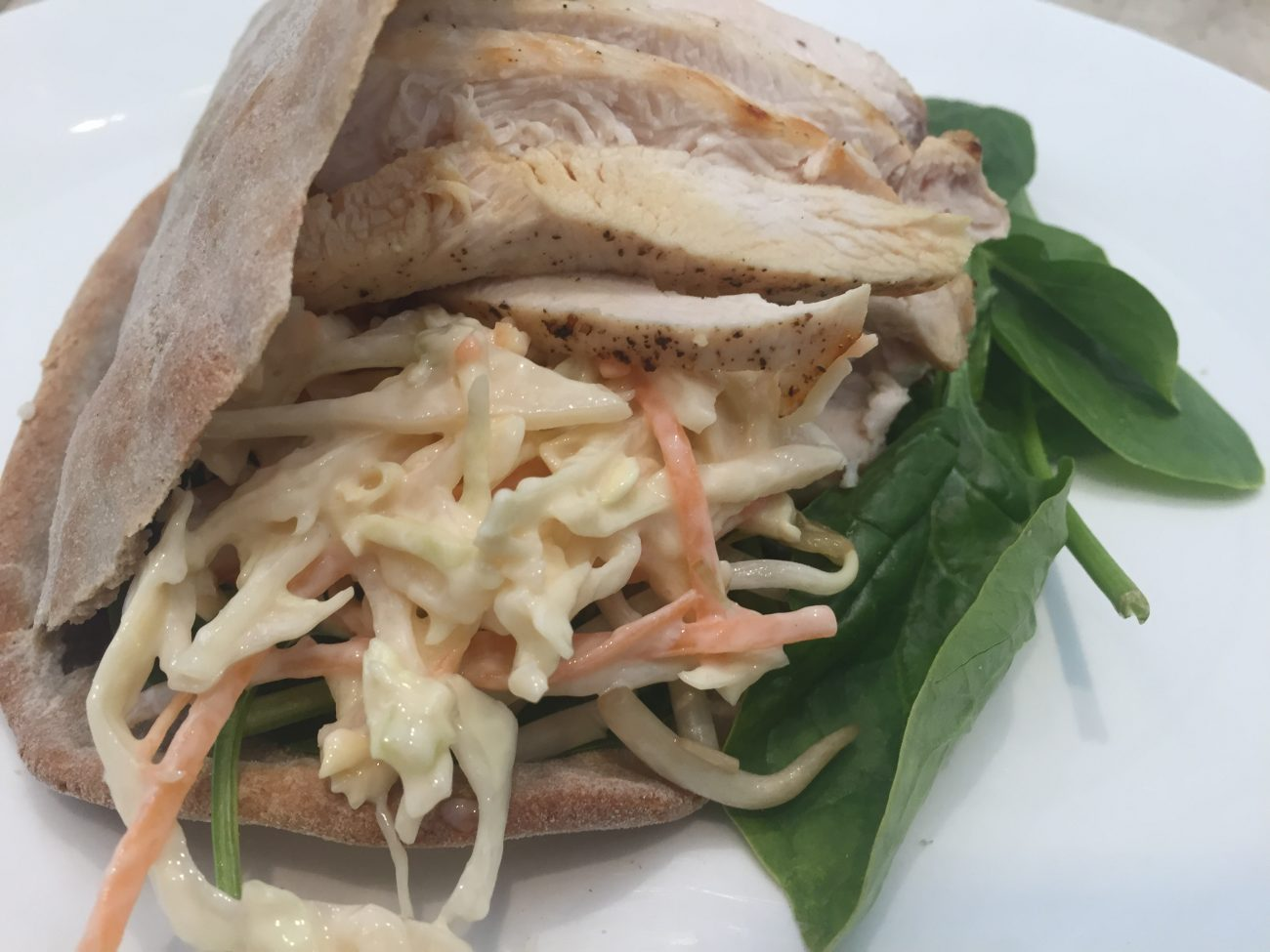 Chicken & Coleslaw Pittas
