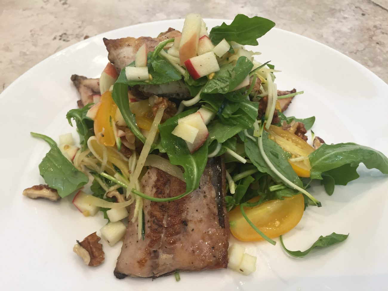 Jersey Mackerel, Ginger Pickle and Apple Salad
