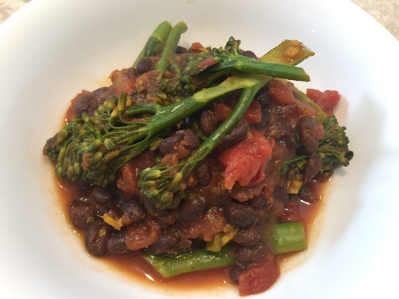 Broccoli & Black Bean Curry